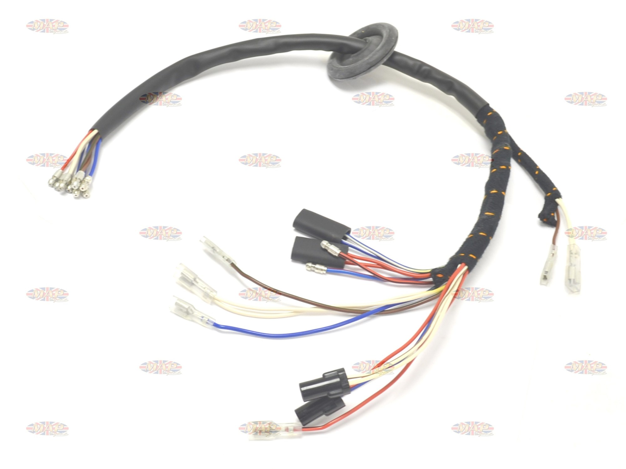 hight resolution of triumph 1973 x75 hurricane english made headlight wiring harness hurricane wiring harness