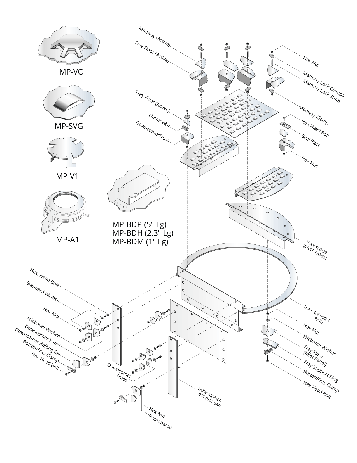 Standard Tray Component Assembly And Valve Unit