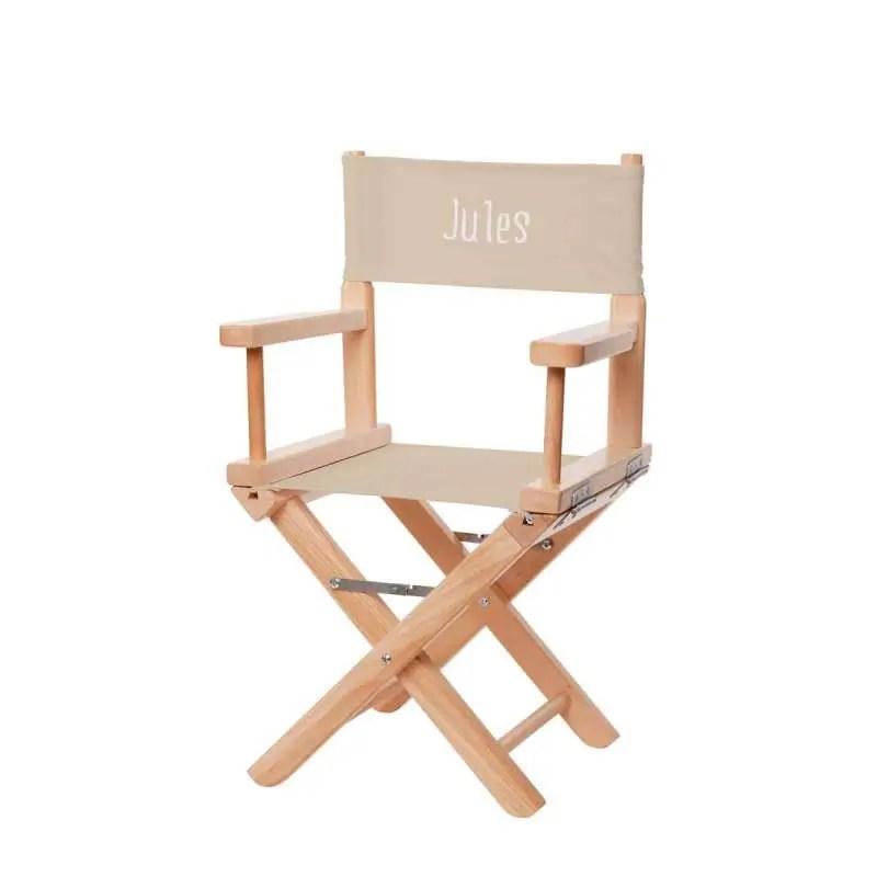 dossier en toile pour chaise de metteur en scene enfant toile unie ficelle
