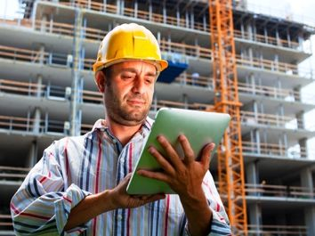 MapGage FieldApp can be used in conjunction with drone images to make a detailed construction site safety audit inspection.