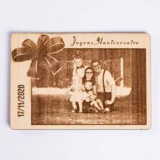 Carte cadeau gravé sur bois