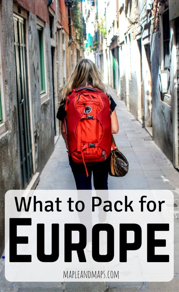 What to pack for europe in september