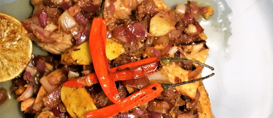 My Food Story & Salmon with Masala Onions
