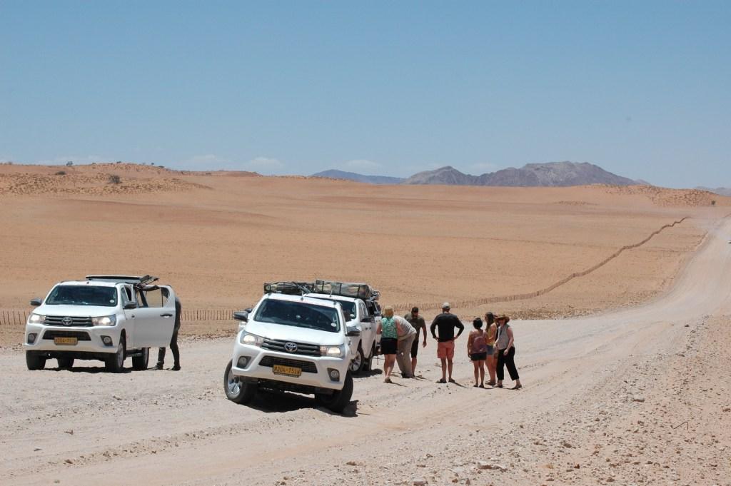 Namibian Road Trip Flat Tire
