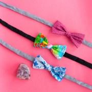 beau headband hair bow. blue