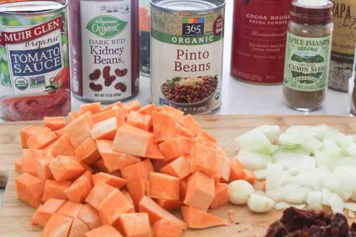 ingredients for turkey sweet potato chili