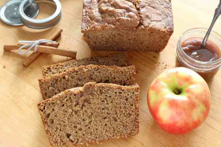 sliced apple butter bread