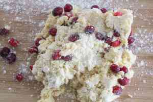 ginger cranberry scone dough