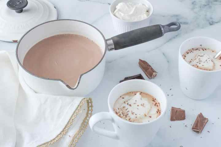 hot chocolate on marble
