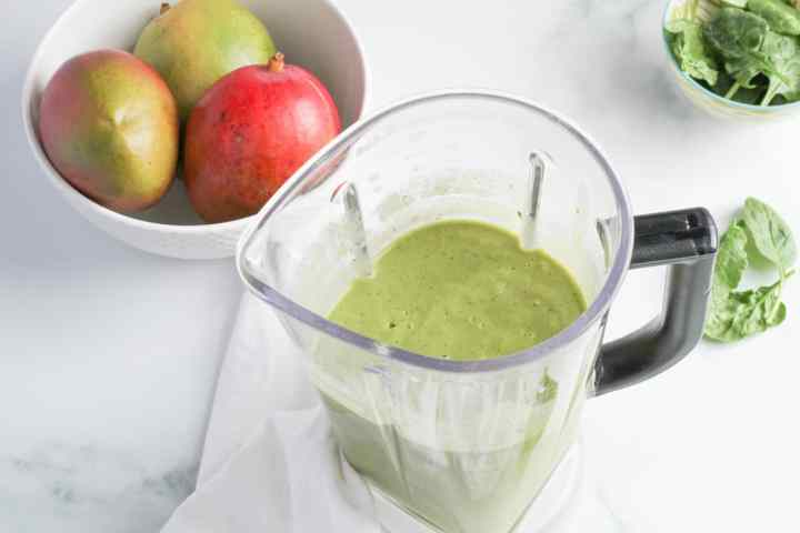 tropical green smoothie blended