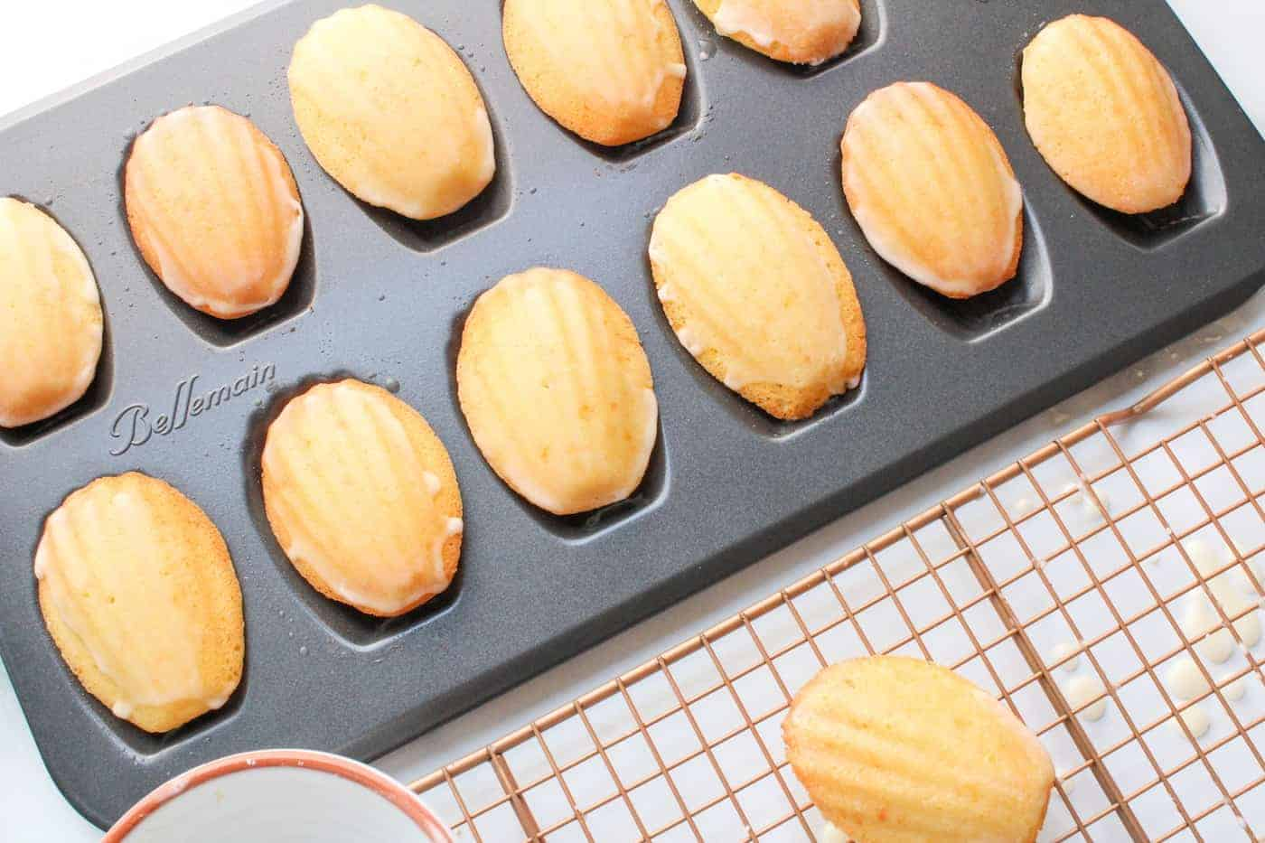 Orange Almond Madeleines