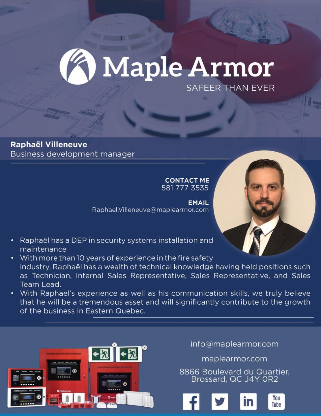 Maple Armor business development manager