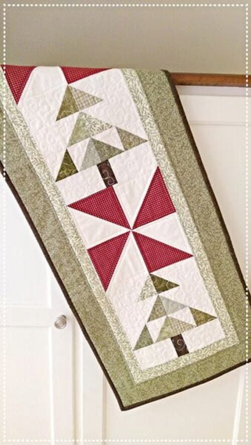 Shooting Stars PDF table or bed runner quilt pattern Easy to make.