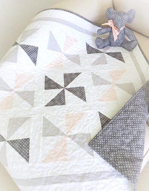 Darling Pinwheels Quilt & Elephant Pattern