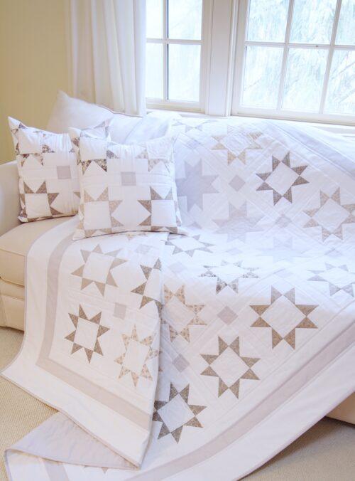 Silver Starlight Quilt & Pillow Pattern