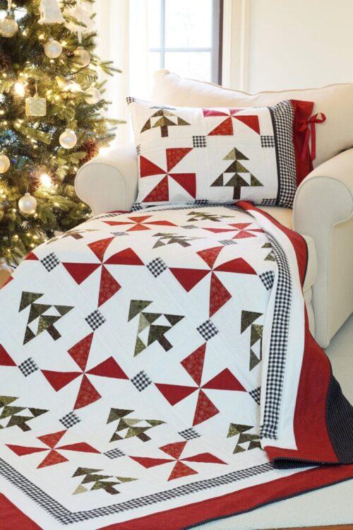 An Evergreen Christmas Quilt & Pillow Sham Pattern