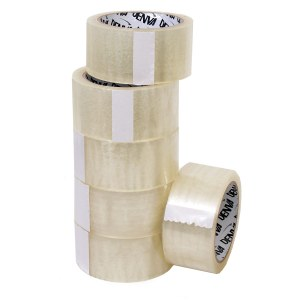 Adhesive clear packing tape