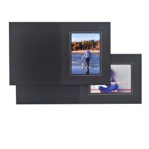 Fairfield black & silver folders