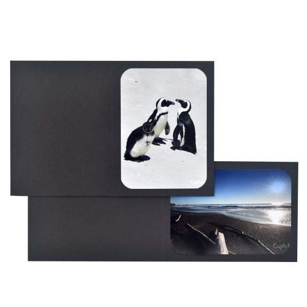 Fresco Black cut-corner folder