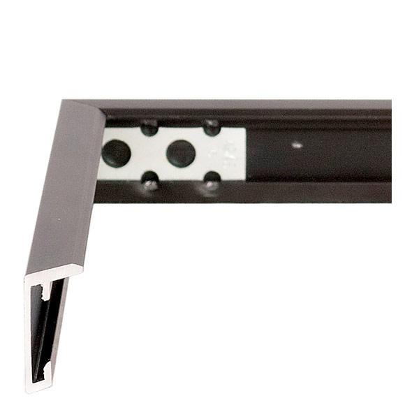 Black aluminium frame profile