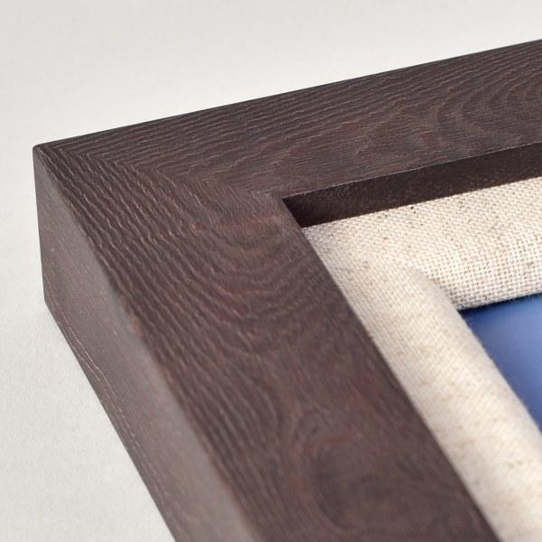 Francesca canvas dark wood frame corner