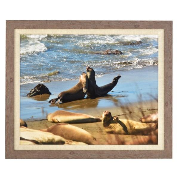 Francesca canvas mid wood frame