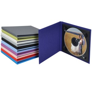 Linen Single CD-DVD Folios