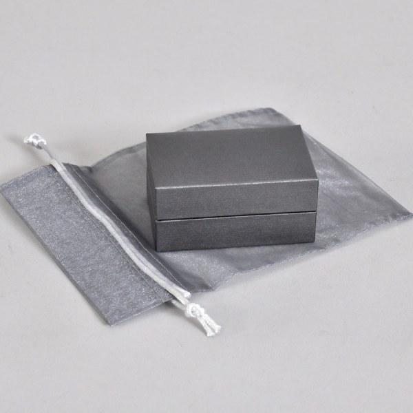 Luxury silver presentation box with organza bag