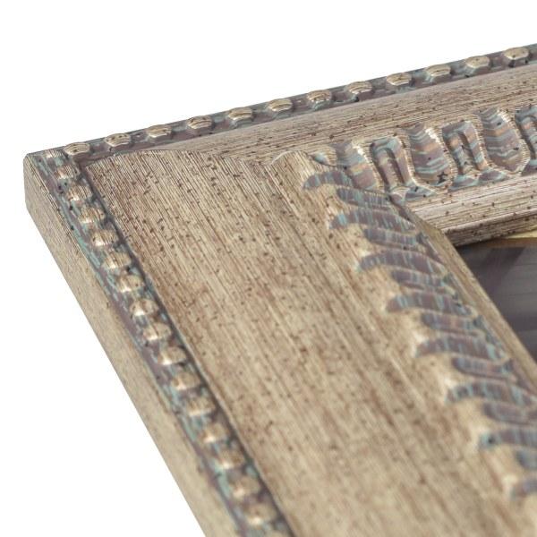 Feodora antique silver frame corner