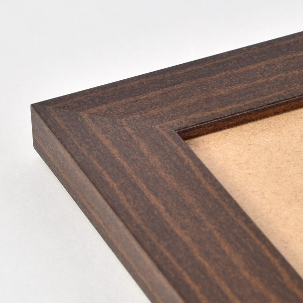 Freestyle dark wood picture frame corner