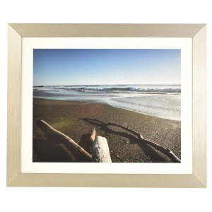 Freestyle pewter picture frame with mount
