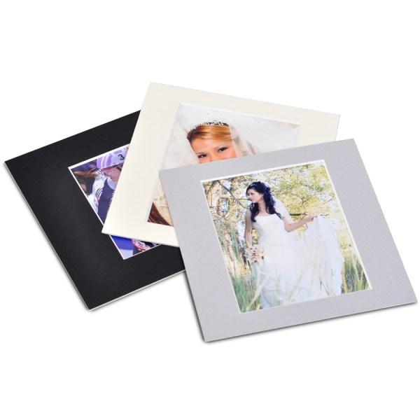 Black, Vanilla and Aragon Grey photo mounts