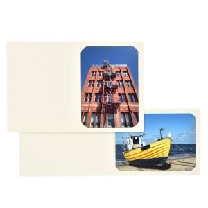 Fresco Ivory cut-corner folder
