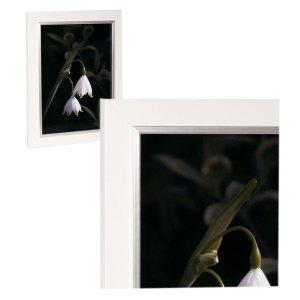Felicia Pastel White Satin Gloss frame