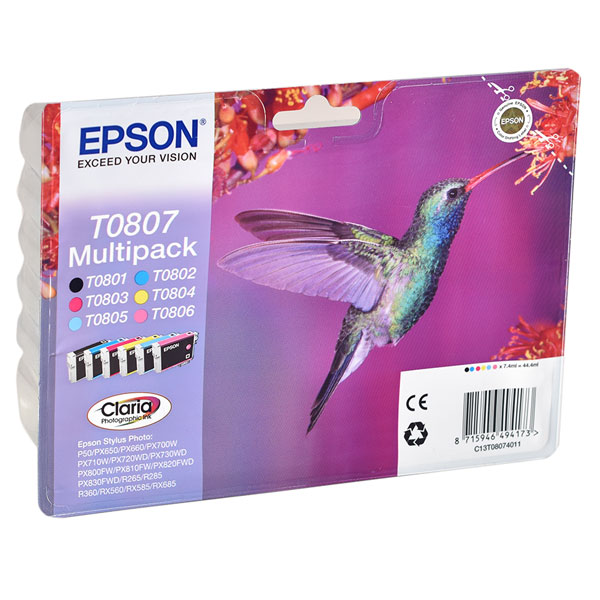 Epson T0807 Ink Cartridges Multipack