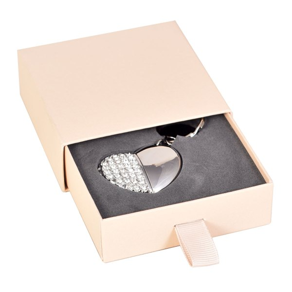 Slider flash drive presentation box in ivory