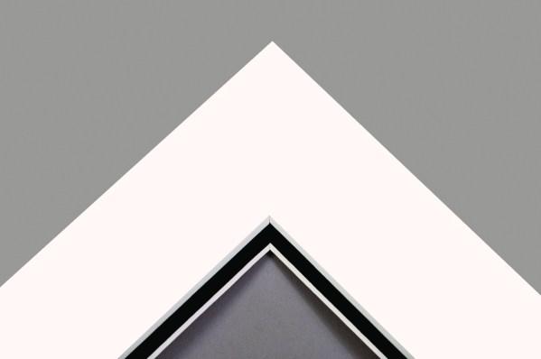 White on Black Double Mount