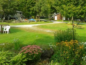 campground during the summer