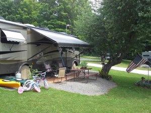 camper in the summertime