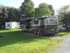 camper in the summer