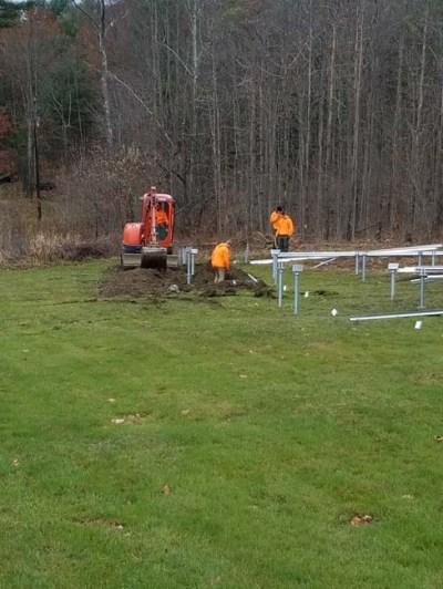 solar panel pre-installation
