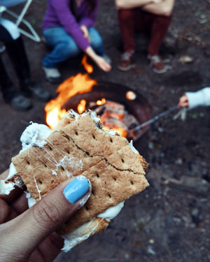smores tips for camping in vermont