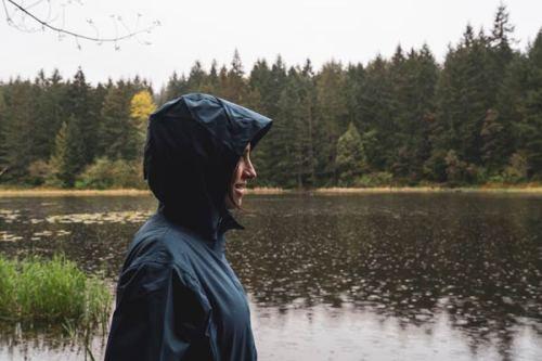 rainy camping trip raincoat