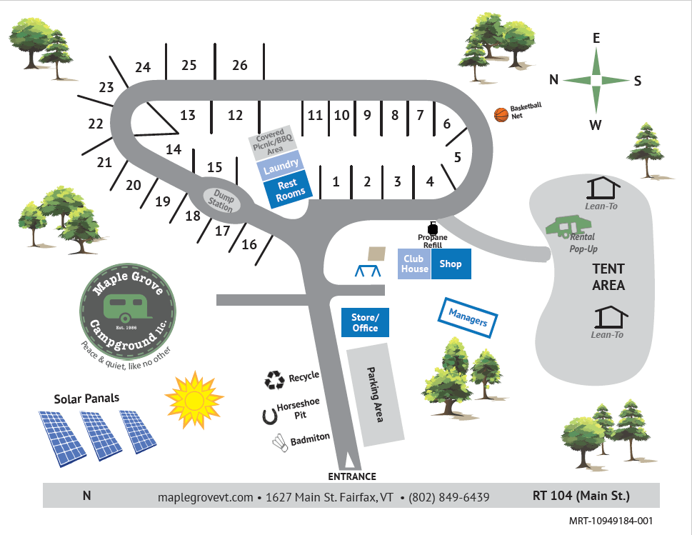 Maple Grove Campground Map