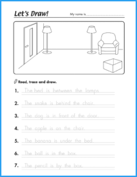 Let S Draw Prepositions Worksheet