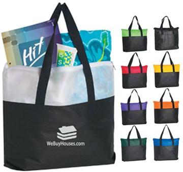 custom zippered tote bags