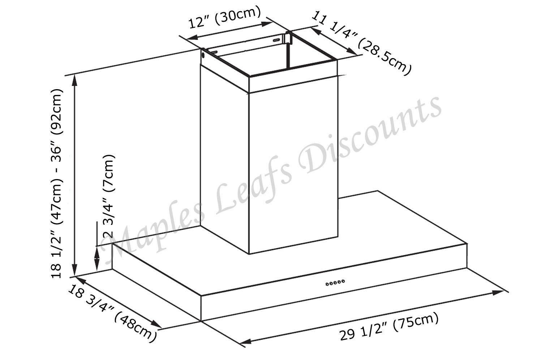 kitchen ventilation system skylights stainless steel 30 quot range hood wall mount 3 speeds