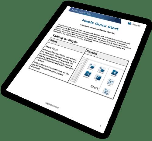 Maple Quick Start PDF