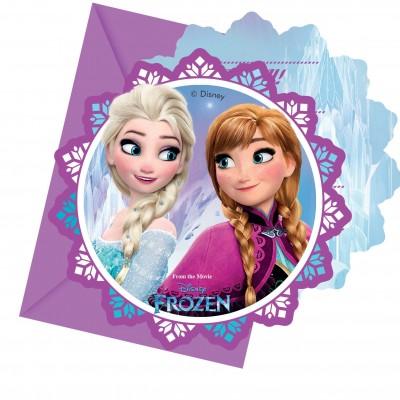 6 cartes d invitations reine des neiges 6 enveloppes