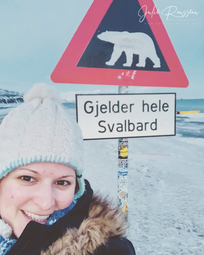"""The famous polar bear sign. Means """"Applies to all of Svalbard"""""""